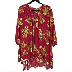 Jodifl Dress Tunic Oversized Comfy Floral Large